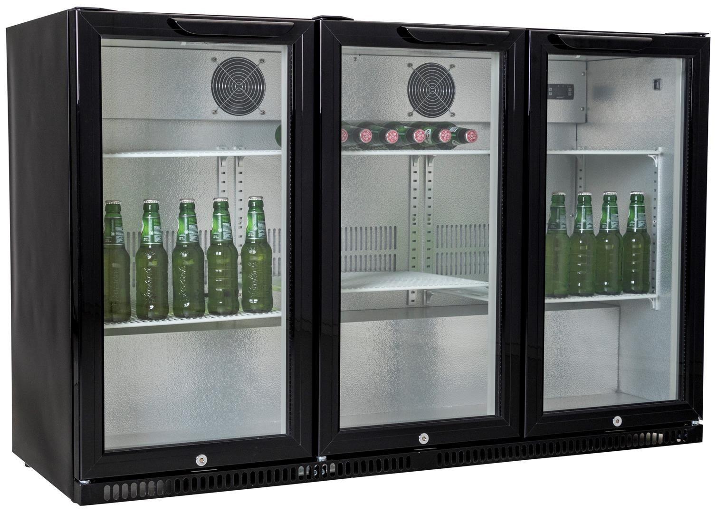 Backbar koeler   Zwart   3 deuren   Slot   Exquisit   BB3D